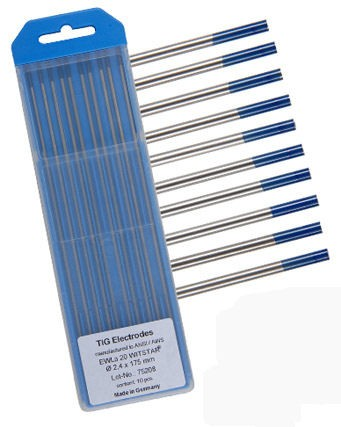 Wolfram elektrode blå
